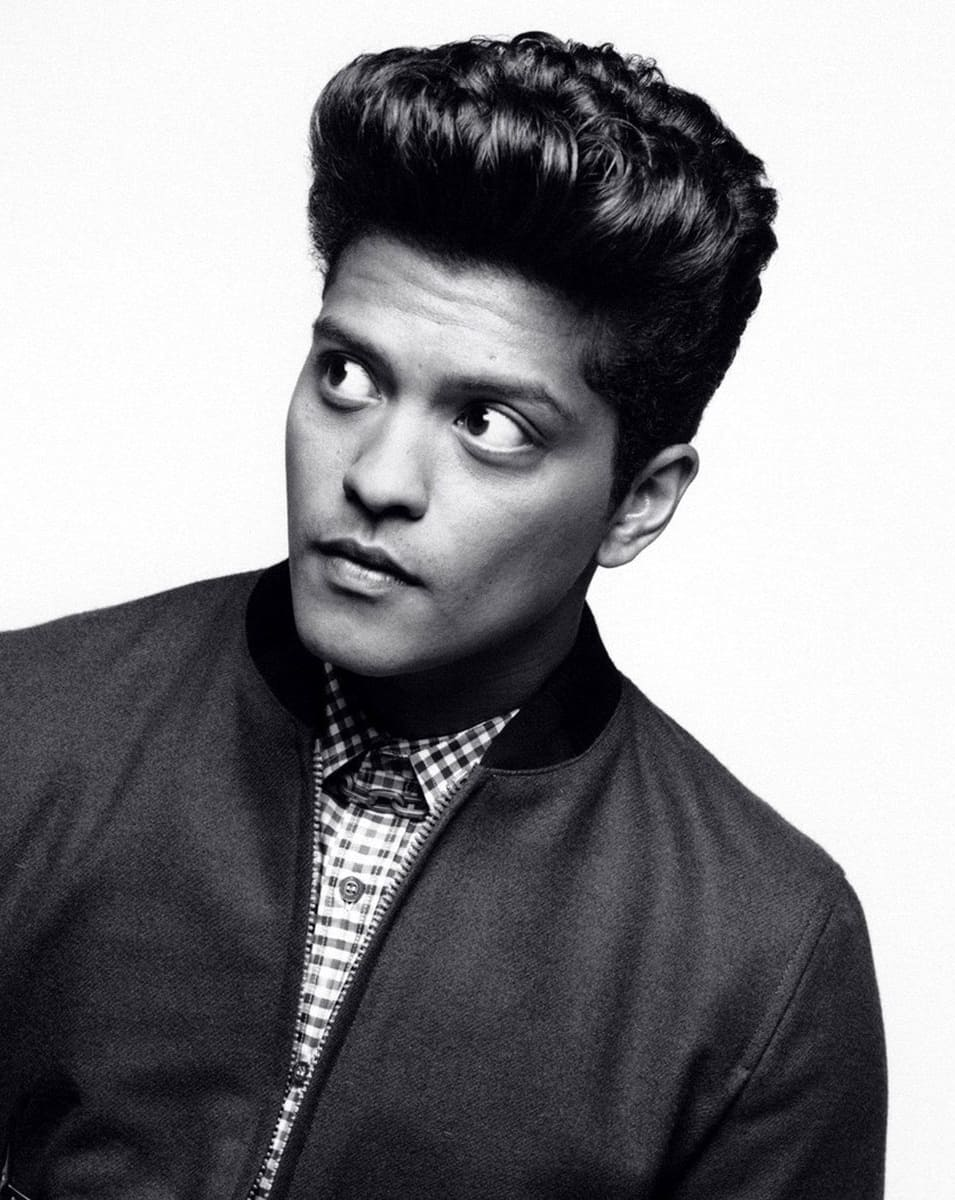 Bruno mars medium mens haircut