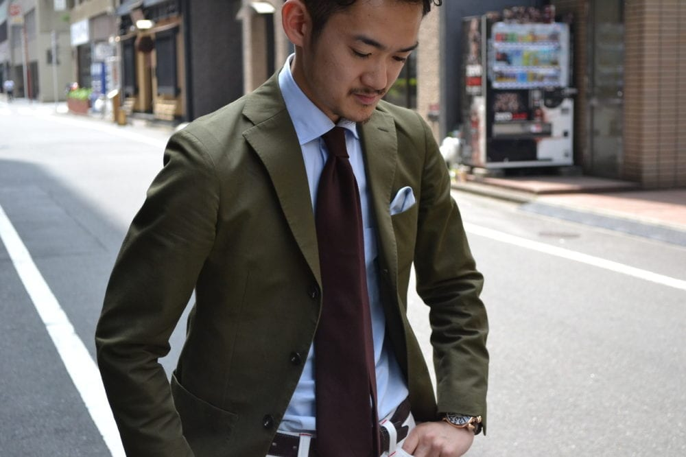olive-green-brown-jacket-tie